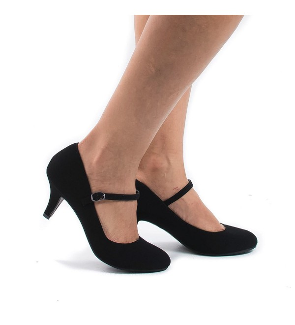 Black Padded Insole Comfort Pumps 6 5
