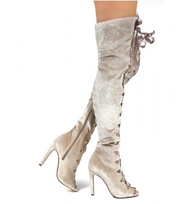 Robbin Womens Velvet Stiletto Over