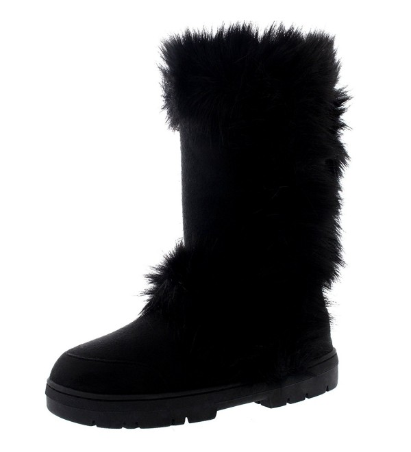 Womens Calf Waterproof Winter Boots