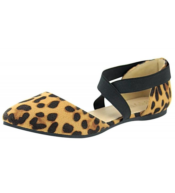Anna Shoes Elastic Strappy Leopard