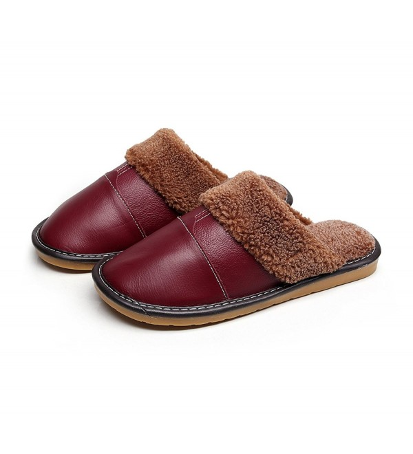 Havina Womens Fleece Slippers Maroon