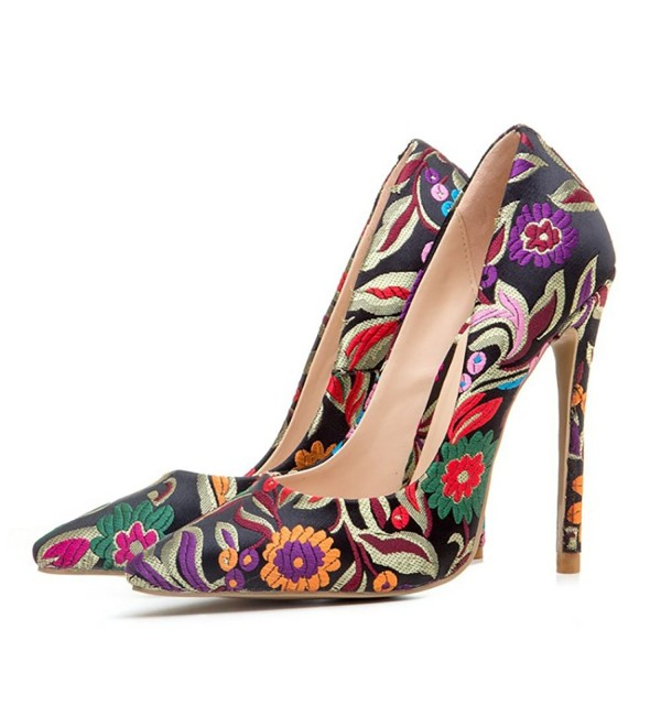 Themost Women Floral Closed Pointed
