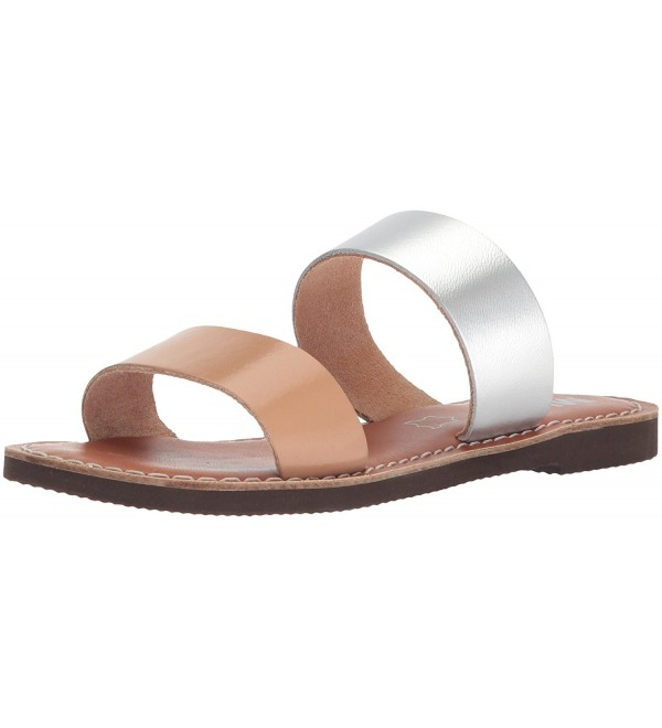 MIA Womens Slide Sandal Silver