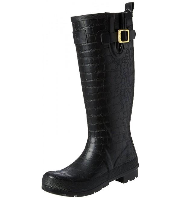 Joules Womens Crockington Rain Black