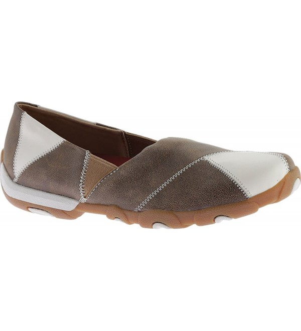 Twisted Womens Driving Moccasins Round