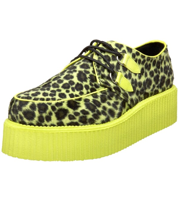Pleaser V Creeper 507UV Lace Up Cheetah