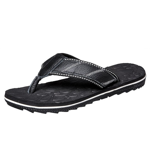 Mens Casual Leather Sandals Black