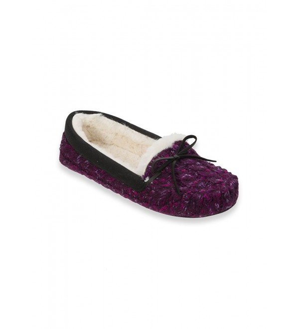Dearfoams Maried Knit Moccasin FREE