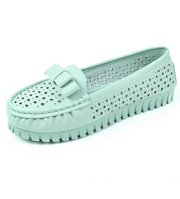 faf97a8dee65f Women Casual Slip On Leather Loafers Ballet Flats Foldable Soft Sole ...