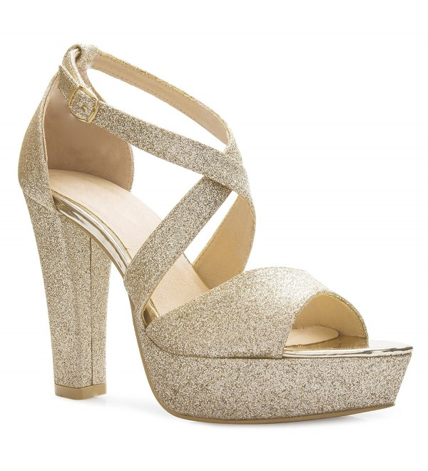 f19b551911e9 Women's Platform Ankle Strap High Heel - Peep Toe Sandal Pump ...