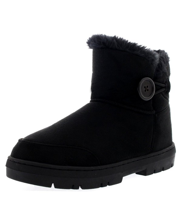Womens Button Shoes Winter Boots