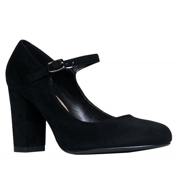 OLIVIA Womens Block High Heel