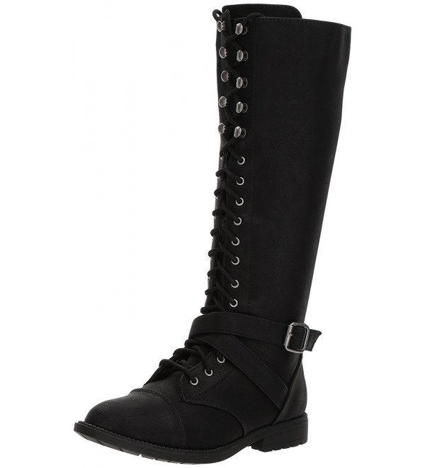 Topline Womens Devon Combat Black