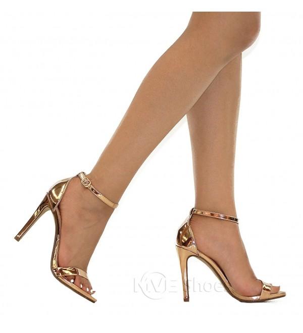 704a980e801d Women s Stiletto Open Toe Ankle Strap Pumps-Shoes - Rose-gold j ...