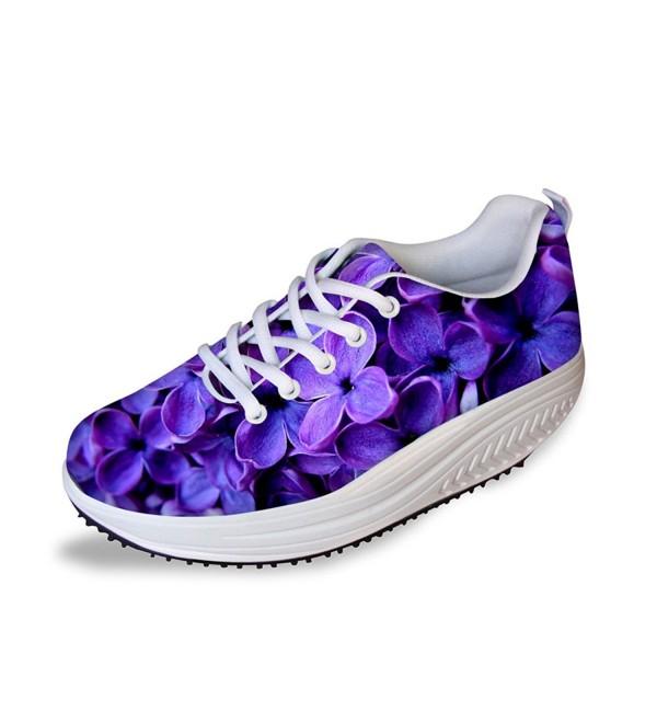 HUGSIDEA Platform Walking Sneaker Flowe14