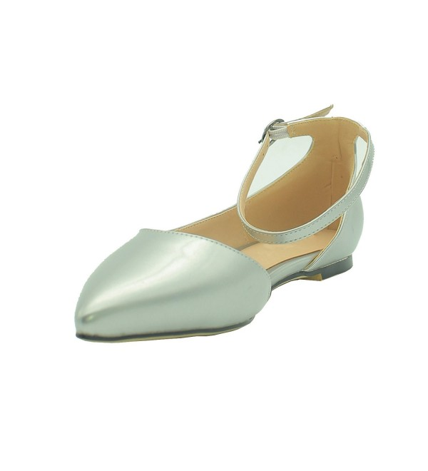 VASHOP Womens Dorsay Pointy Ballet