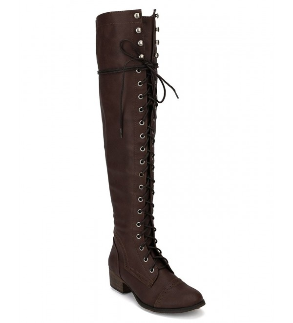 Breckelle AF57 Women Leatherette Military