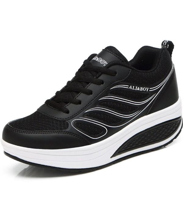 Orlancy Leather Platform Walking Sneakers