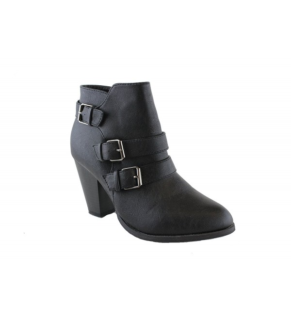 Forever Womens Buckle Strap Booties