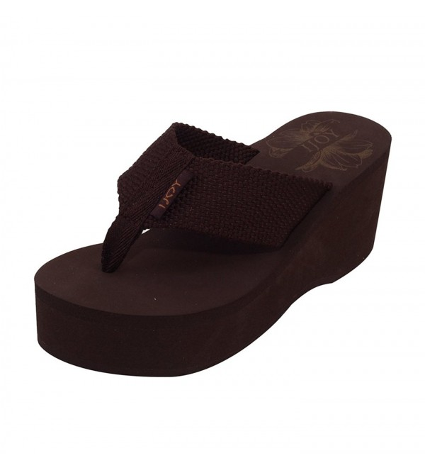 Womens Comfort Wedge Thong Flops