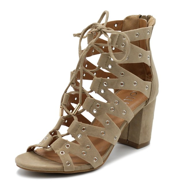 Ollio Womens Gladiator Booties NOVEL01