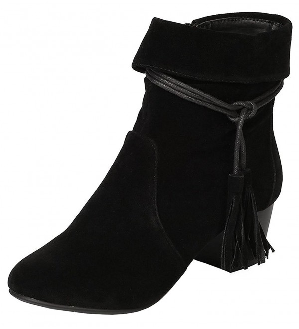 Breckelles Womens Closed Tassel Stacked
