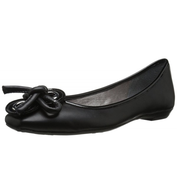 J Renee Womens Ballet Black Leather