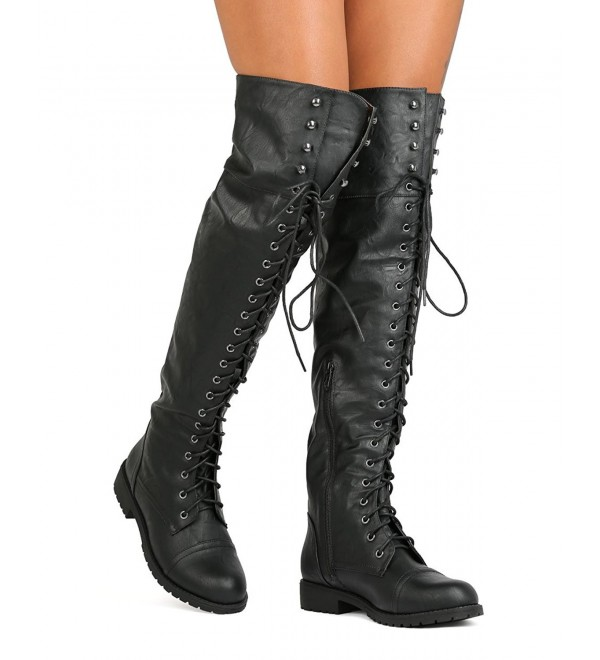 Rider Womens Thigh Combat Boots