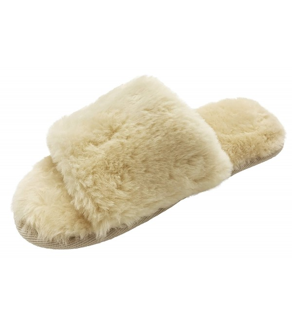 Finoceans Womens Slide Slippers Winter
