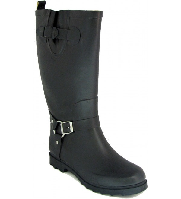 Womens Harness Motocycle Mid Calf Wellies