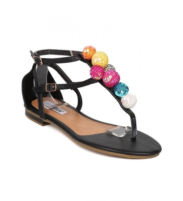 CAPE ROBBIN Women T Strap Sandal