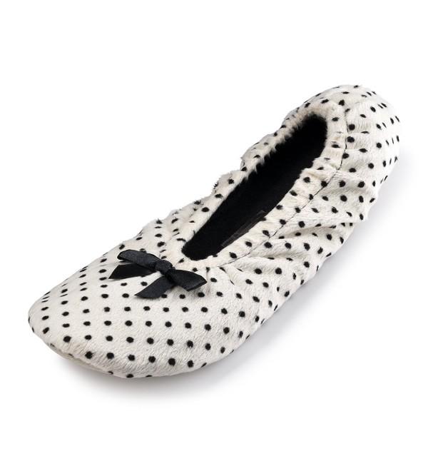 Polka Dot Ballerina House Slippers For