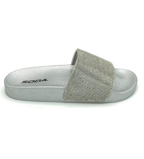 Spaza Trendy Rhinestone Sandals Silver