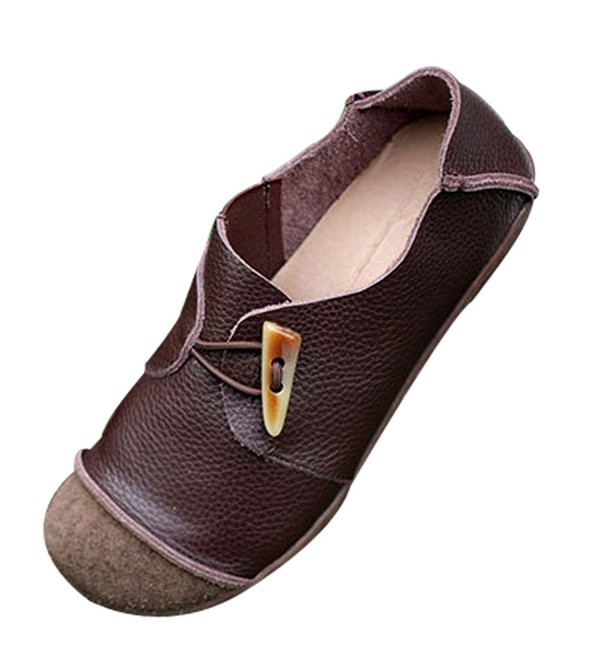 Mordenmiss Womens Round Shoes Coffee