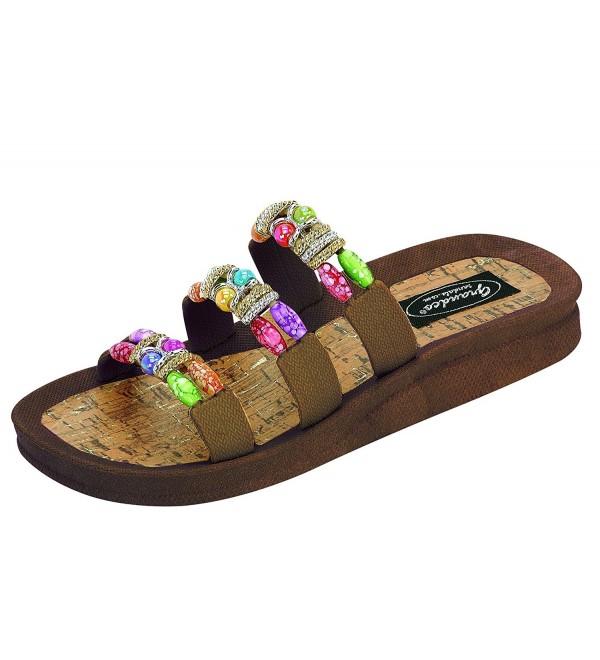 Grandco Womens Classic Slide Sandals