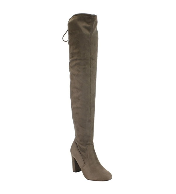 Delicious Womens Faux Suede Taupe