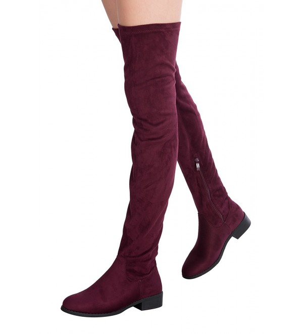 OLIVIA Womens Thigh Suede Boots