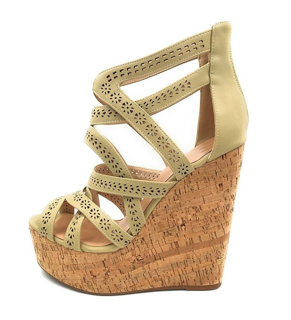 Cuckoo Wedges Sandals Strappy Platform
