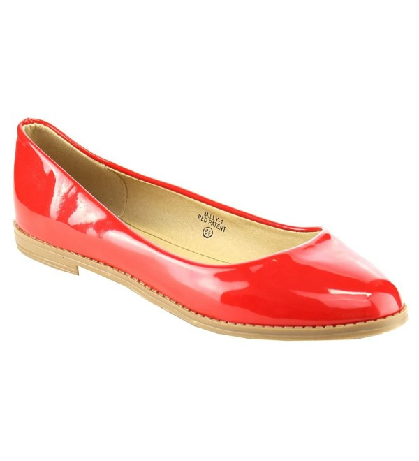 Bella Marie Womens Patent Pointy