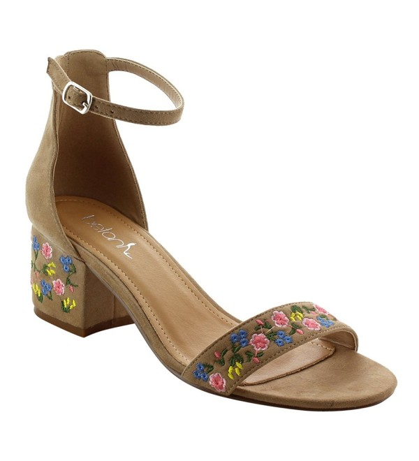 BETANI FK45 Embroidered Buckled Sandals