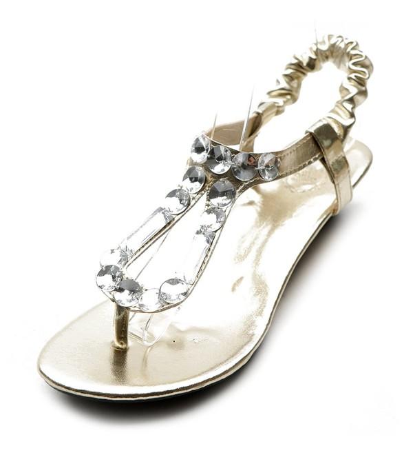 Ollio Womens Beaded Thong Sandal