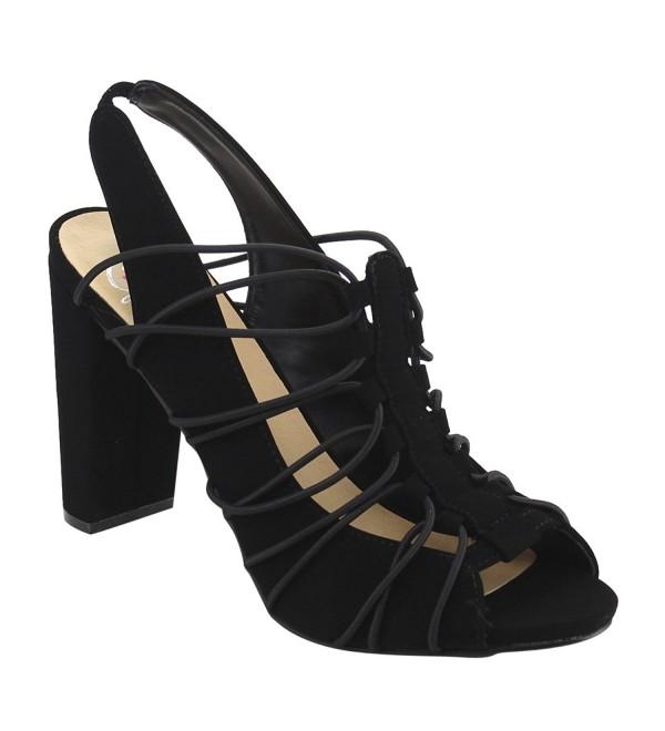 Delicious Womens Branch Elastic Sandal