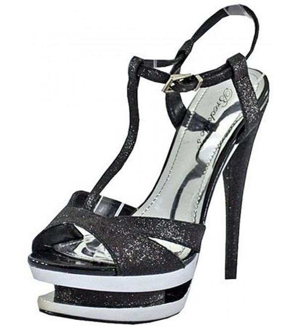 Breckelles Hudson 07 Black Platform Sandals