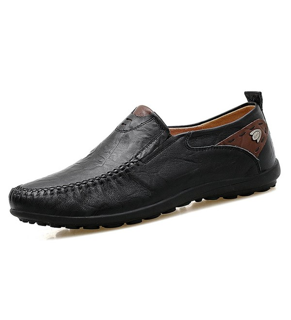 Domucos Driving Premium Leather Shoes Black 7