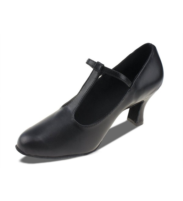 MSMAX Unisex Leather Black Heeled
