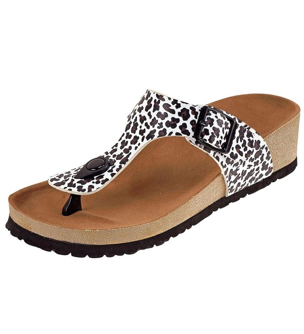 Cambridge Select Womens Sandal Leopard