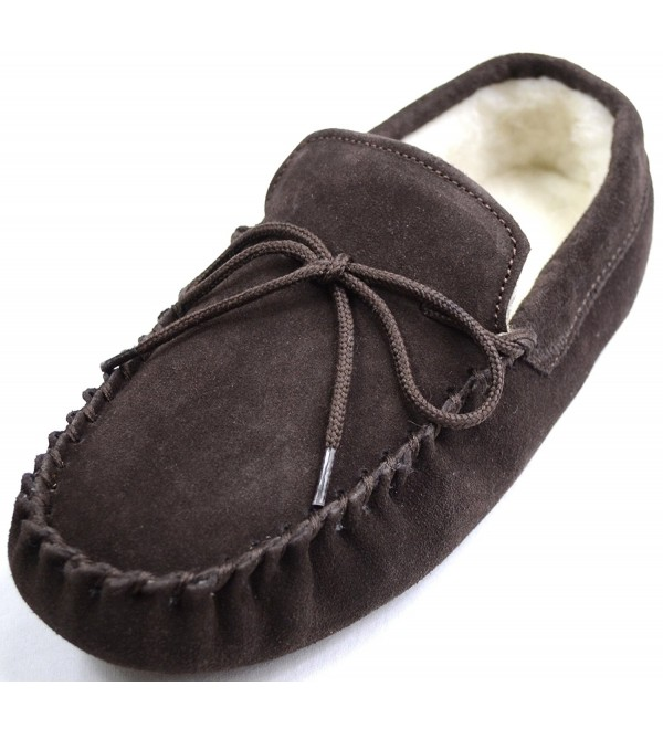 Snugrugs Womens Brown Moccasin Slippers