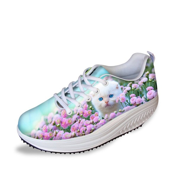 HUGS IDEA Pattern Platform Sneakers