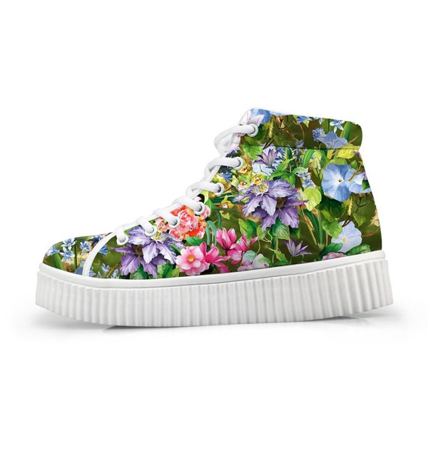 HUGS IDEA Lolita Floral Sneakers