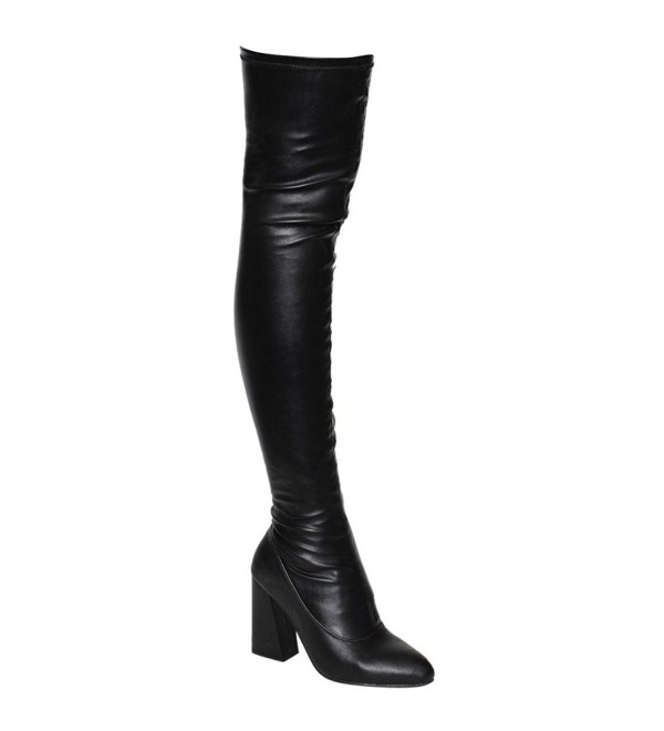 Beston Womens Stretchy Thigh Boots